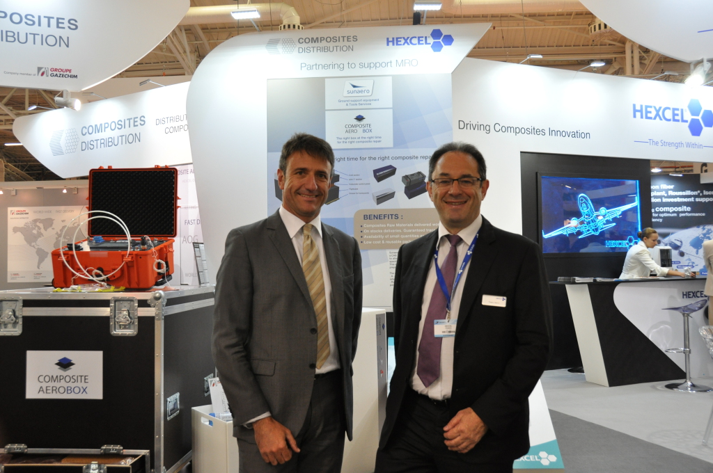 Jean-Marc Libes (Composites General Manager at Groupe Gazechim) & Thierry Merlot (‎VP and General Manager, Europe/Asia-Pacific at Hexcel)